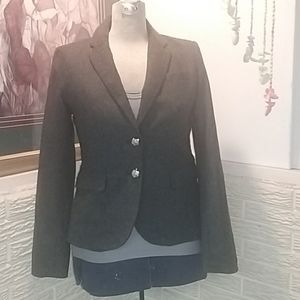 Forever 21 Gray Blazer Leopard Lining Size S